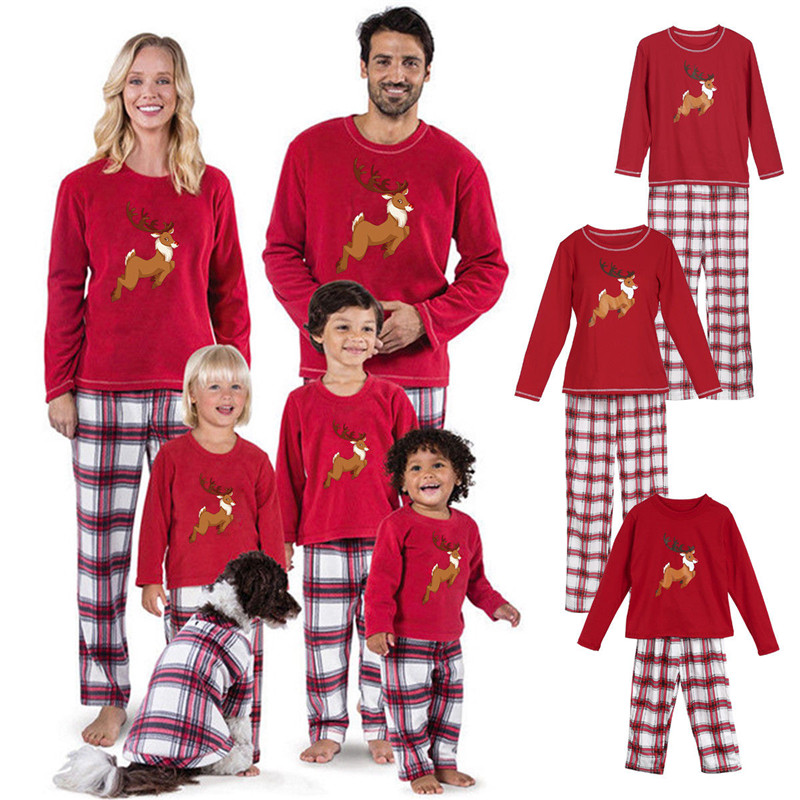 2019 New 12 months Household Christmas Pajamas Household Matching Outfit Father Mom Daughter Woman Boys Clothes Units Pyjamas Household Look