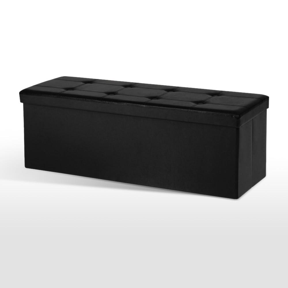 US Stock IKAYAA Large Folding Storage Ottoman Sofa Foot Rest Stool Pouffe  Bed End Bench Foldable - Online Get Cheap Ottoman Storage Bench -Aliexpress.com Alibaba Group