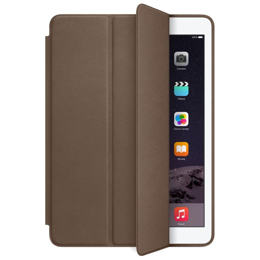 U For iPad Air 2 Genuine Leather Smart Case Cover Slim Wake Dark Brown Top Sell N0224