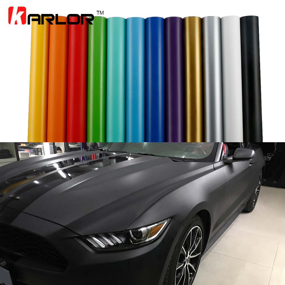 Matt Color Change Vinyl Film Car Wraps Hood Roof Whole Body Stickers Decal With Air Bubble Car Styling Automobiles Accessories
