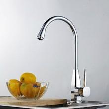 Современный одинарная ручка полированный нет бросился torneira кухня миксер кран ручки кухня faucets сует