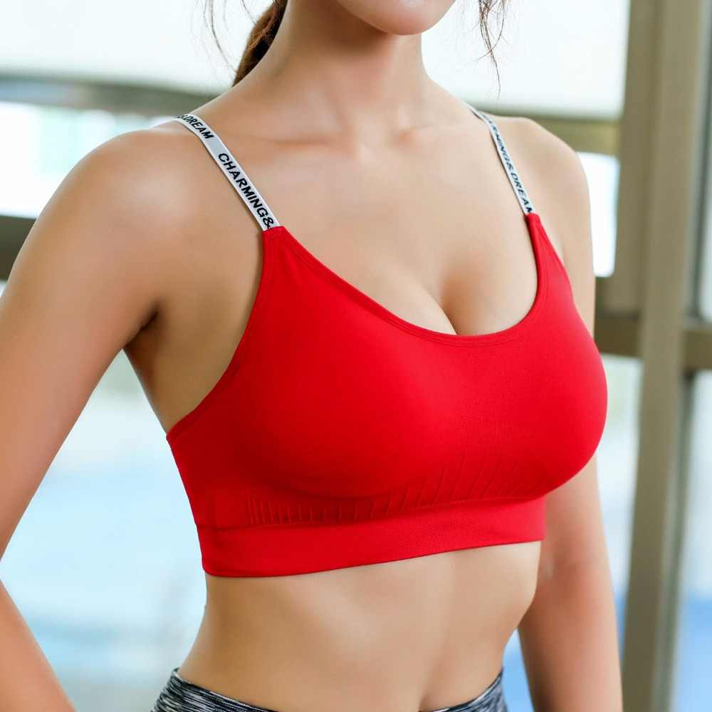 b3552d5fe4e Women tops Crop Top Cropped Padded Bra Tank Top Vest Cropped feminino  Fitness Stretch 2018 New