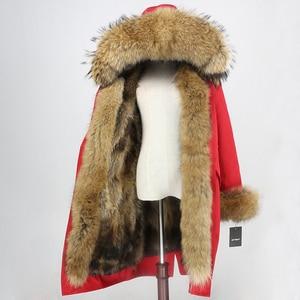 Image 4 - OFTBUY x ロングパーカー防水生地冬のジャケットの女性本物の毛皮のコート毛皮の襟フードキツネの毛皮ライナー着脱式