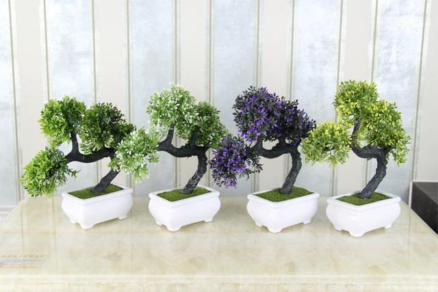 fake plants bonsai plants plastic bonsai plant decoration small