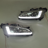 QINYI LED Daytime Running Light For Hyundai Santa Fe IX45 2013 2014 2015,Car Accessories Waterproof 12V DRL Fog Lamp Decoration