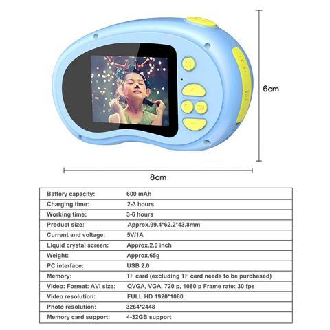 das criancas camera digital mini camera de