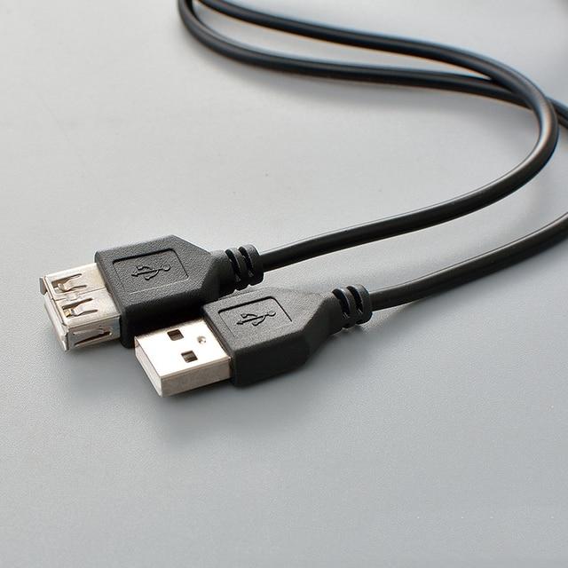 כבל USB 2.0 מהירות סופר כבל מאריך USB זכר לנקבה הארכת 1 m USB סנכרון נתונים 2.0 כבל מאריך כבל