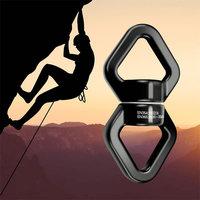 1Pcs Safety Device Swivel Rotator for Rope Climbing Hammock Swing Setting Aerial Swing Spinner, Carabiner Swivel