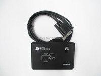 RS232 RFID считыватель новый безопасный черный USB 125 кГц RFID датчик приближения считыватель смарт-ID карт EM4100