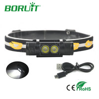 Boruit 1000lm 2 XP G2 LED Headlamp 6 Mode USB Rechargeable Headlight For Hunting Fishing Camping