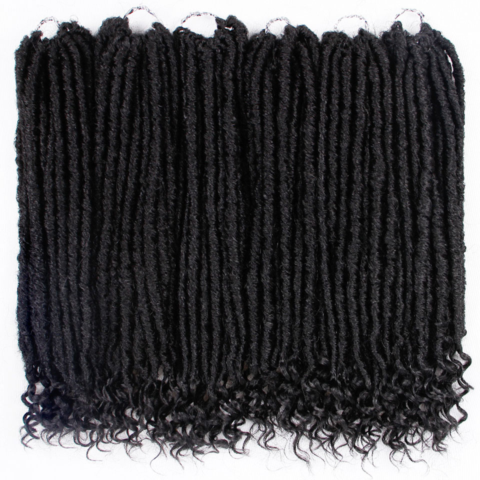 Goddess Faux Locs Dreads Crochet Hair Braids Synthetic Hair Extension 16 Inches Soft Natural 24 Stands/Pack AISI HAIR