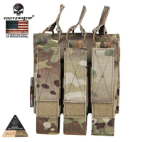 Emersongear US Multicam Genuine Fabric Airsoft Hunting Magazine Pouches Combat Modular Triple MAG Pouch For MP7 EM6357