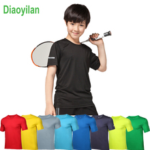 цены на 2017 Summer child Running T Shirts Active Short Sleeves Quick Dry Training Jersey Sports Clothing kids Basketball Soccer clothes  в интернет-магазинах
