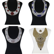5pieces Beaded Diamond Hotfix Motif Transfer Rhinestones Iron on Crystal  Collar Applique Sticker for Clothes Decorated 3220ed697db9