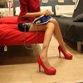 RXE 832 Новая Мода на высоких каблуках женщины насосы тонкий каблук красный свадебные туфли Женская обувь на высоком каблуке