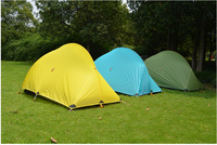 2015New 3F Gear High Quality 15D 3season Professional Silicon PU Coating 2 Layer Camping Tent With