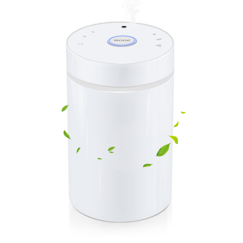 Waterless And Wireless Aromatherapy Diffuser Essential Oil Aroma Diffusers Oil Nebulizer For Car Led Light in Humidifiers from Home Appliances