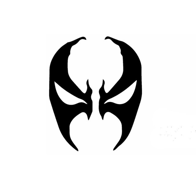 Hotmeini 15cm X 12cm Spawn Face Mask Symbol Funny Car Sticker For