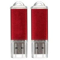 10 unids Llavero USB Flash Drive 128 MB de Memoria Flash Drive U Disco para Win 8 UNID Regalo, rojo