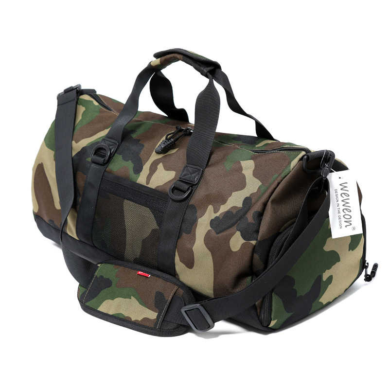 Nueva bolsa de entrenamiento de gimnasio de camuflaje para hombre con bolsillo de almacenamiento de zapatos para mujer bolsa deportiva para Fitness bolso duradero al aire libre
