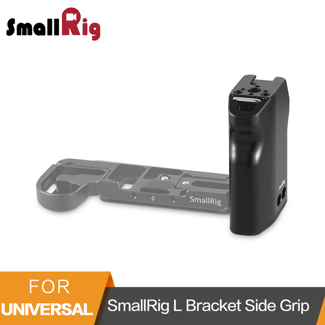 SmallRig Left Side Grip For L bracket Hollowed Side Handle Grip For Baseplate of SmallRig L bracket Plates  2218