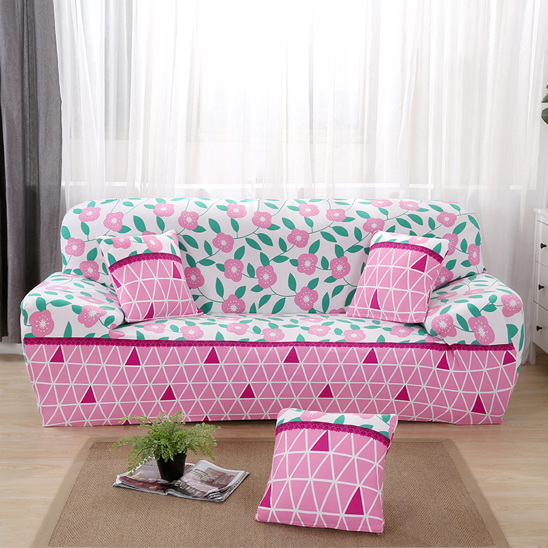 Casual Life Elastic Sofa Slip Covers Flower Printed Couch