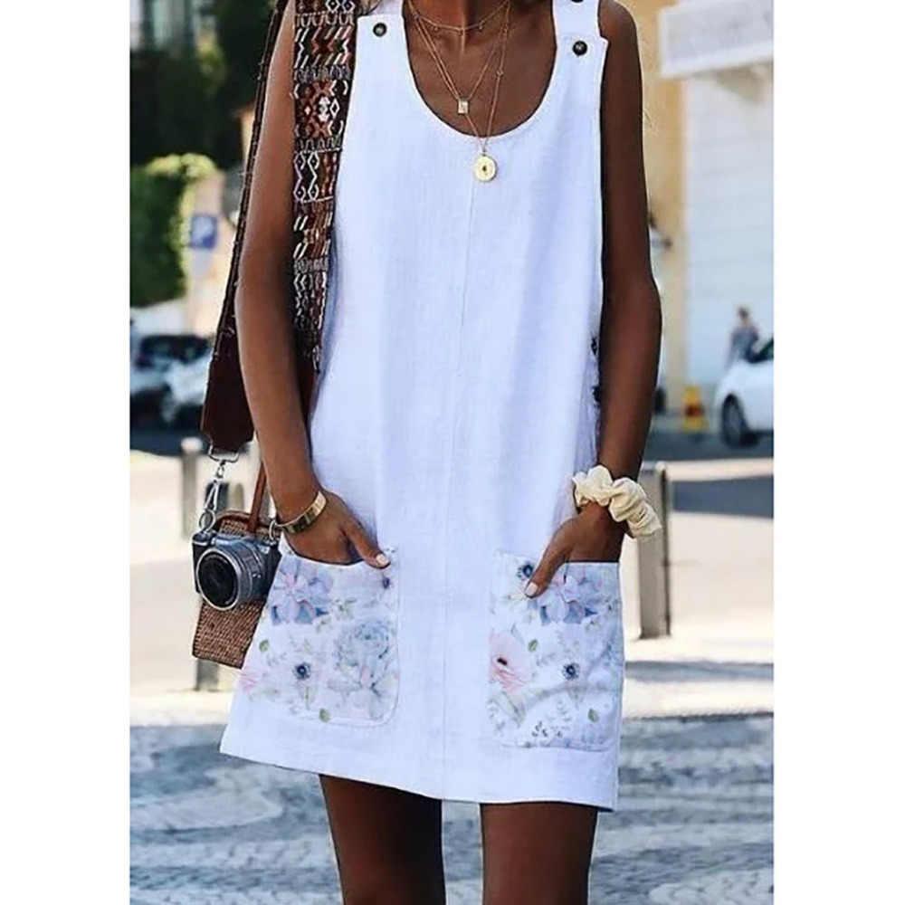女性ドレスファッションクルーネック昼間カジュアルポケット花プラスサイズドレスドレス誕生日ギフトホット販売ローブフェムセクシー BB4