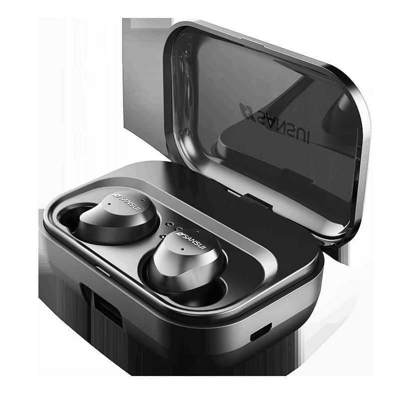 5.0 di Tocco di Bluetooth di Controllo Hifi Auricolare con Il Mic IPX7 Impermeabile TWS Auricolari Senza Fili Stereo Microfono per Il Telefono con Accumulatori e caricabatterie di riserva