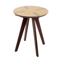 INNESS Solid Wood OAK End Table Modern Round Coffee Table Environmentally Friendly Living Room Side Table