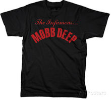 Mobb Deep - Infamous T-Shirt M Black 100% Cotton Short Sleeve Summer Sleeves T Shirt