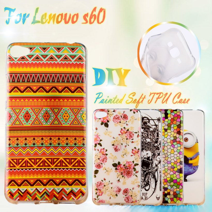AKABEILA Painted Cases For Lenovo <font><b>S60</b></font> <font><b>S60</b></font>-T 4G LTE <font><b>S60</b></font>-W S60W S60T 5.0 inch Silicone Case Cover <font><b>S60</b></font> S60W TPU Phone Cases