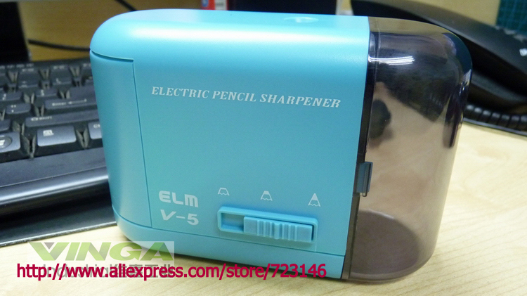 Taille-crayon électrique de bureau de taille-crayon du japon, taille-crayon en acier, affûteuse, V-5 d'orme de papeterie d'école