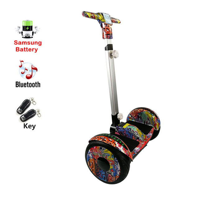 купить Handrail adult electric scooter Samsung Battery Smart balance board two wheels self balancing scooter Hoverboard skateboard недорого