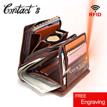 100% Genuine Leather Men Wallets Zipper Coin Purse Short Male Money Bag Quality Designer Rfid Walet Small Card Holder Clutch - DISCOUNT ITEM  42 OFF Luggage & Bags