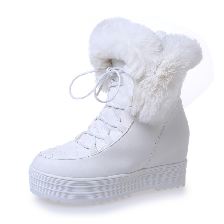 2017 New Arrival Hot Sale Shoes Women Boots Solid Slip-On Soft Cute Women Snow Boots Round Toe Flat with Winter Ankle Boots027 2015 new arrival fashion women winter snow boots warm ladies shoes bowtie slip on soft cute shoes purple color sweet boots