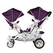 Дети коалы близнецы детская коляска, высокое качество близнецы коляска, фиолетовый и синий 2 цвета доступны