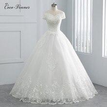 יפהיפה פנינים ואגלי שווי שרוול דובאי חתונת שמלת 2020 כדור שמלת תחרה עד רקמת בציר הכלה שמלת חתונה שמלת WX0107