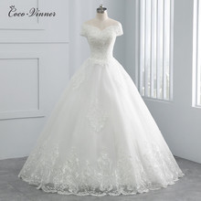 Beatiful Pearls Beading Cap Sleeve Dubai Wedding Dress 2020 Ball Gown Lace up Embroidery Vintage Bride Dress Wedding Gown WX0107