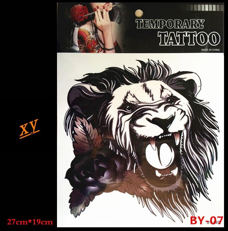 Etanche Lion Bras Autocollant De Tatouage Temporaire De Une Femme Un