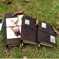 Genuine leather journal notebook podróżujący handmade notebooki vintage diary planner agenda caderno sketchbook przyborów szkolnych