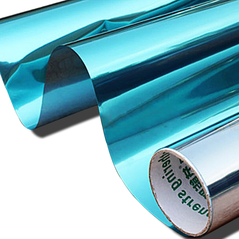 20inx60in blue silver window tint film sun shield window for 20 reflective window tint