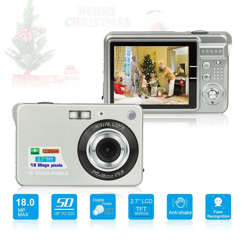 2019 New 2.7inch 18MP 720P Portable Mini Digital Camera 8X Zoom TFT LCD Screen Video Camcorder Anti Shake Photo Camera Kids Gift
