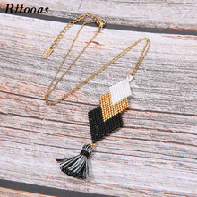 Rttooas Fashion Womens Necklaces & Pendants choker necklace MIYUKI Beads Handmade Tassel Necklace Girls Gift