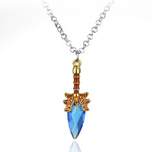 Fahion Game Dota series Defense Of The Ancients Crystal Weapon Scepter Of Aghanim jewelry Crystal Stone pendant necklace(China)