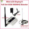 2015 1 Conjunto 2G 900 MHz 900 mhz GSM sinal de Telefone Celular Móvel impulsionador Repetidor ganho 60dbi LCD com antena N macho para casa escritório