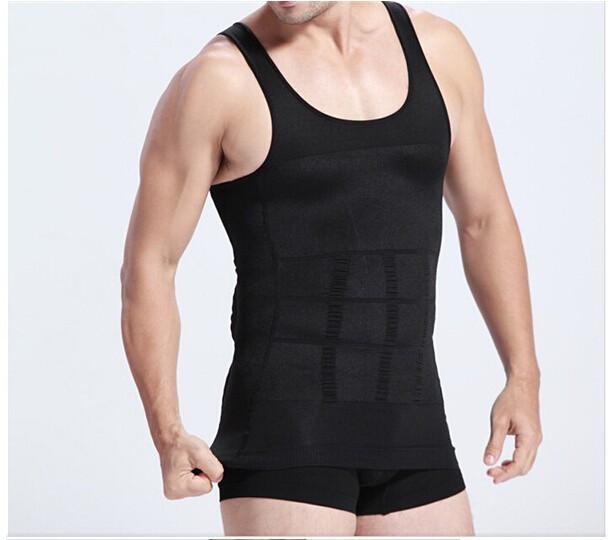 Hot sales Men Shaper Vest Body Slimming Tummy Belly Waist Girdle Shirt Shapewear Underwear 10