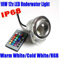 10W 12v underwater RGB Led Flood Light 1000LM Waterproof IP68 fountain pool Lamp LED Spotlight 16 color change