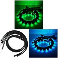 Car Styling 7 Color LED Strip Set Under Car Tube Underglow Underbody System Neon Lights Kit CSL2017(China)