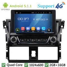 Quad Core 1024*600 8″ Android 5.1.1 Car DVD Multimedia Player Radio Stereo USB DAB+ FM 3G/4G WIFI GPS Map For TOYOTA Yaris 2014