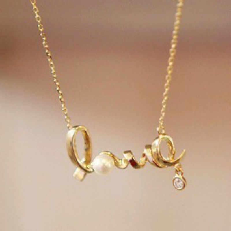 2019 Fashion Baru Natal Kalung untuk Wanita Hadiah Lembut Di Sekitar Jantung Cinta CHIC Cinta Kalung Perhiasan